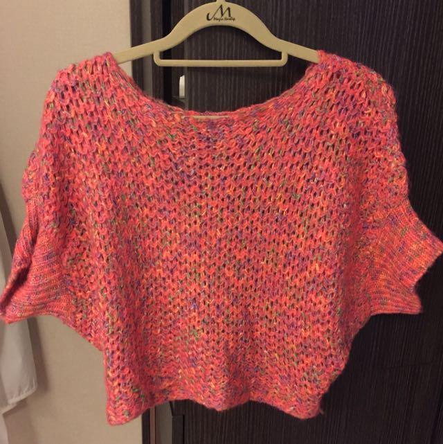【二手】西紅色粗線針織毛衣