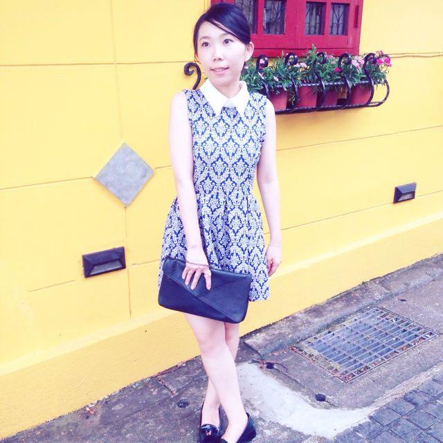 復古圖騰洋裝