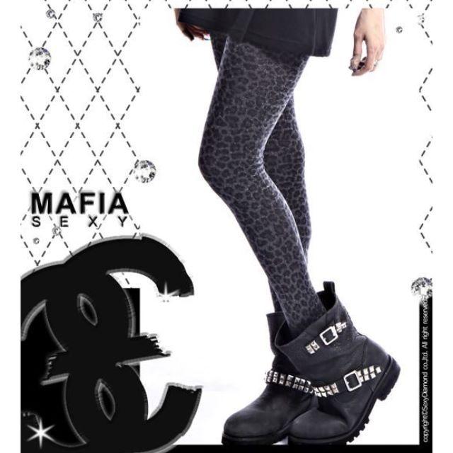 豹紋亮粉褲襪