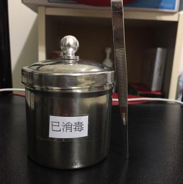金屬鑷子消毒杯(美容丙級)*待匯款*