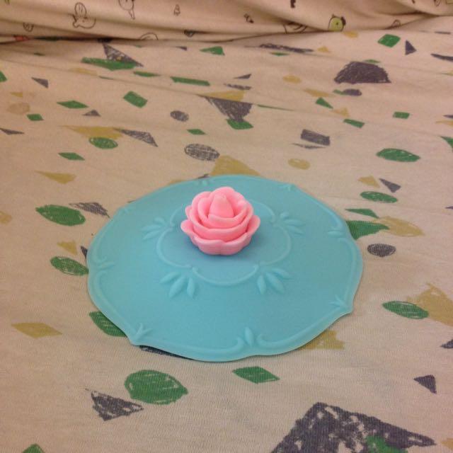 玫瑰創意矽膠杯蓋