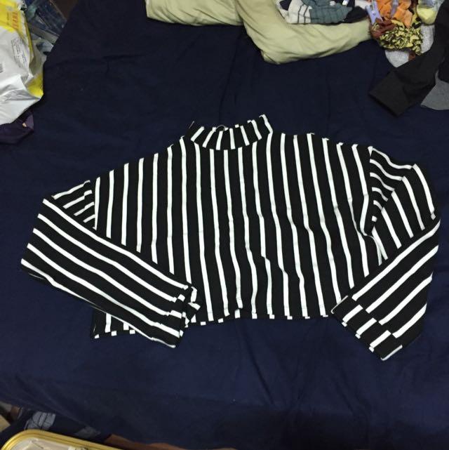 🆕黑白條紋短版衣 #一百元上衣