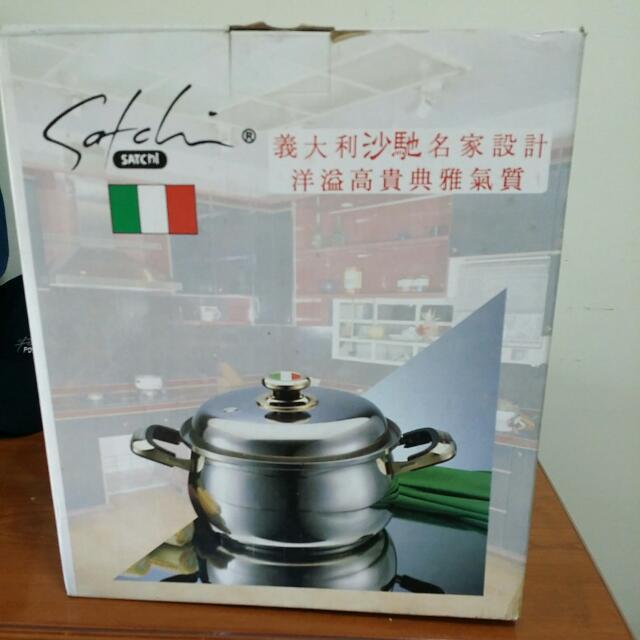 義大利沙馳名家設計高級不鏽鋼調理鍋 26cm