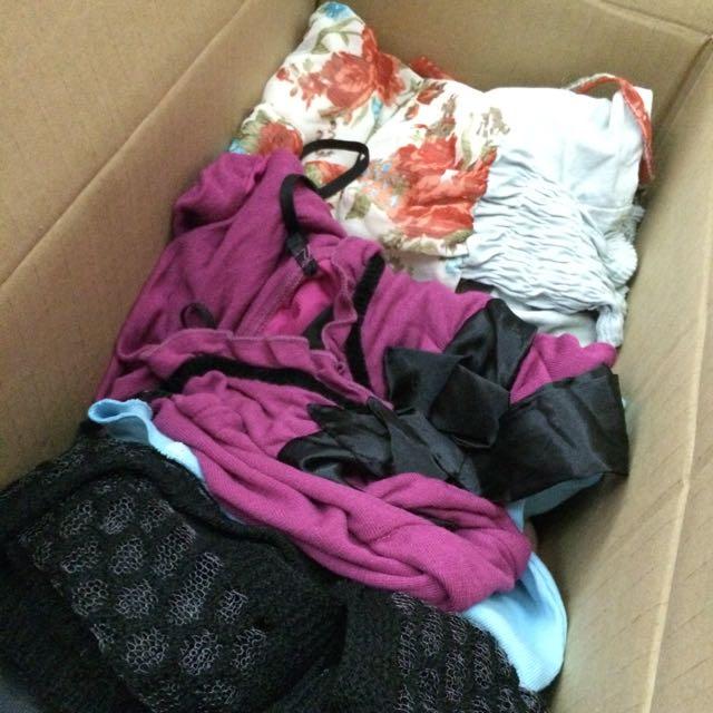 衣服福箱 30件 全新/近全新 外套 針織 洋裝 小可愛