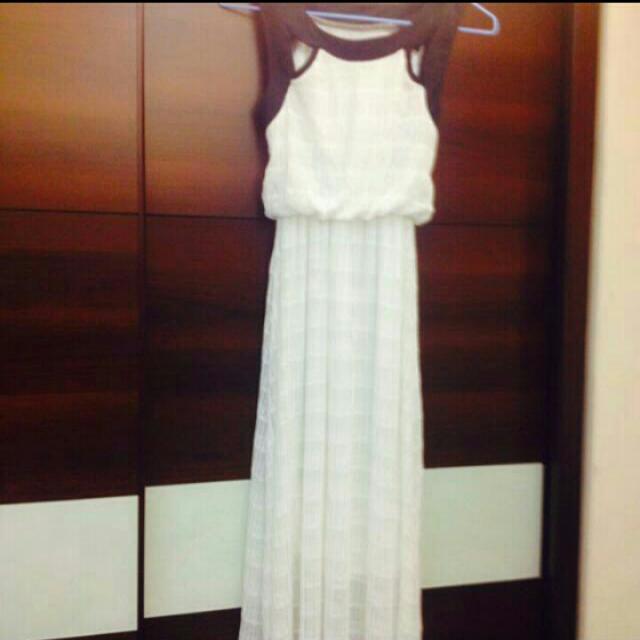 氣質女神 白洋裝 長裙 連身洋裝