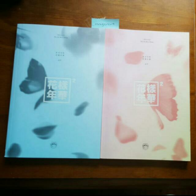BTS HYYH Pt 2 Peach And Blue Albums, No Pc