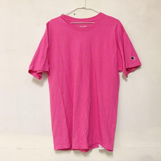 Champion 粉紅大版T-shirt