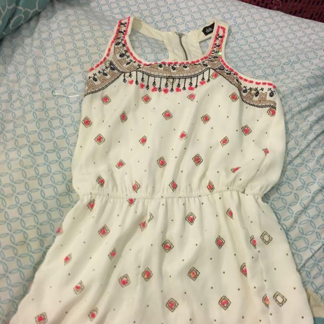 Cute Beaded Jumpsuit - Size 8