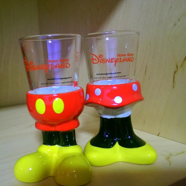 Disney迪士尼米奇 米妮 立體小酒杯 SHOT杯 對杯組