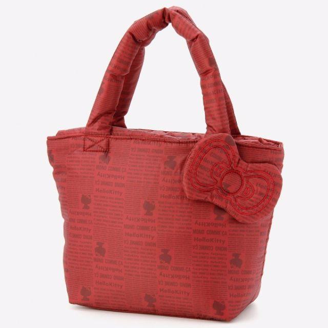 06cacd5de1f0  Last Piece  Japan Sanrio X Mono Comme Ca original Hello Kitty fluffy  Polyester tote bag Red (L)