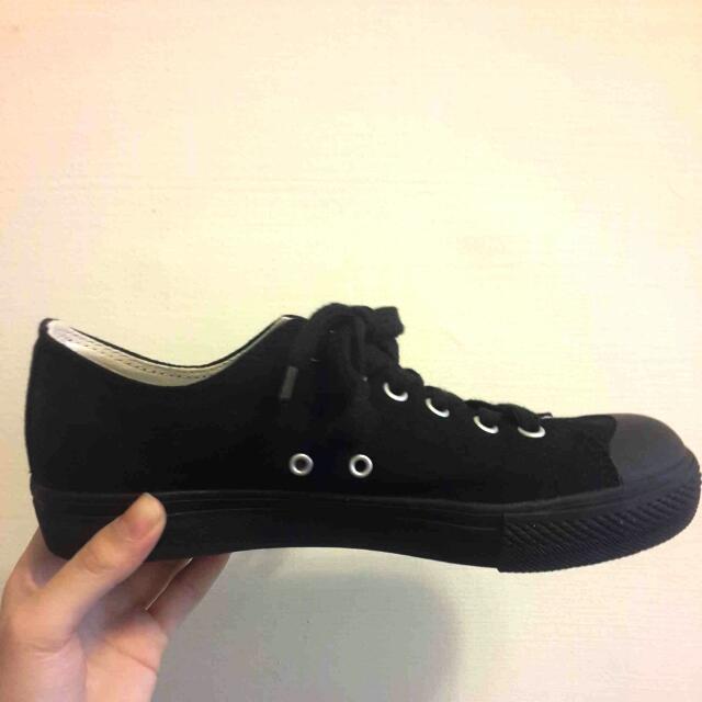 MUJI無印良品 帆布鞋(黑)