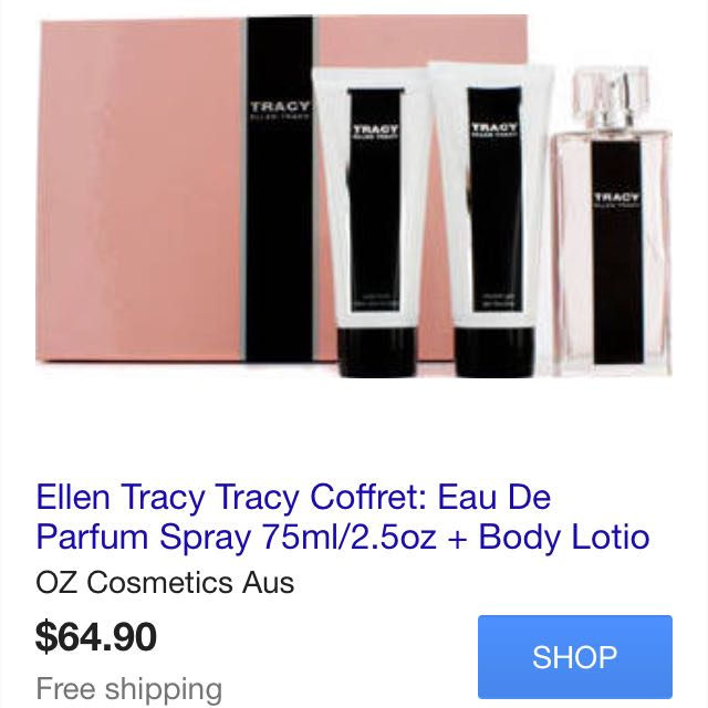 New Ellen Tracy Gift set (1 Perfume 75ml + 2 Lotion 100ml each)