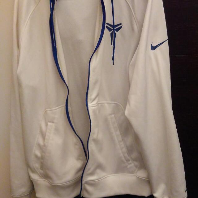 Nike KOBE  連帽外套 亮白藍 內刷毛 XL