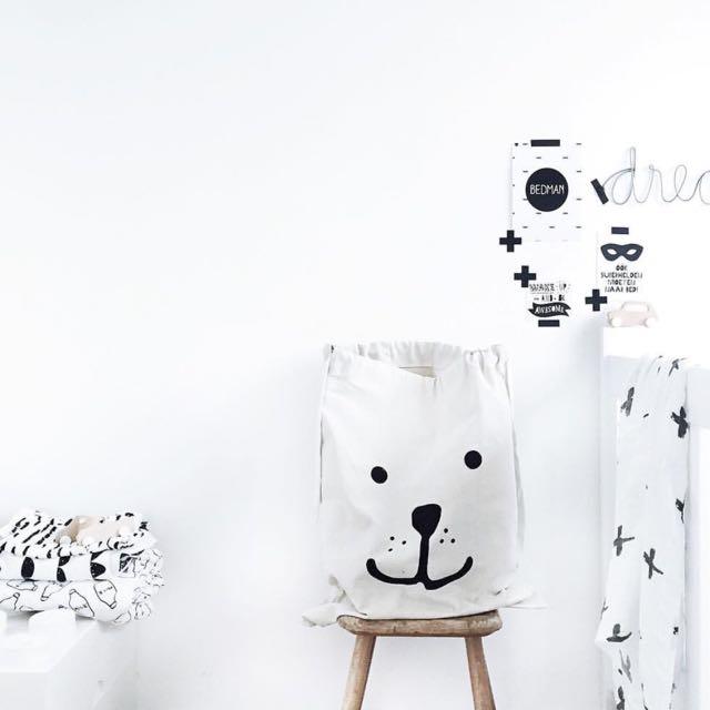 Nursery Inspo Idea! Canvas Storage Bags