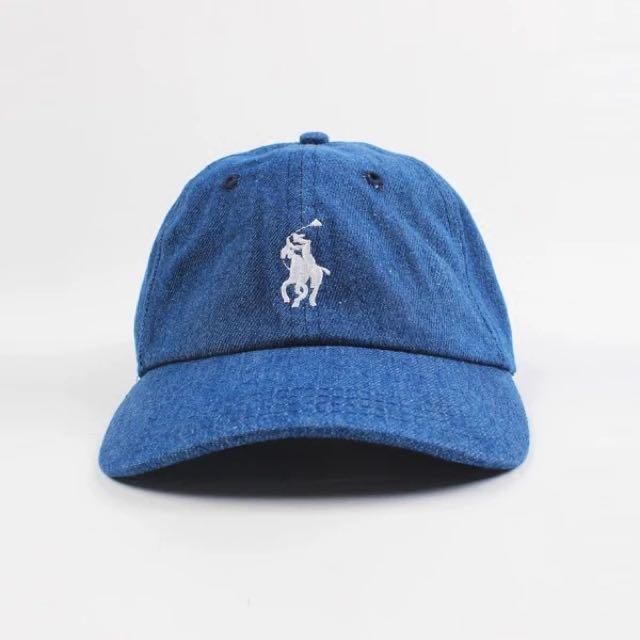 Polo小馬老帽棒球帽牛仔布