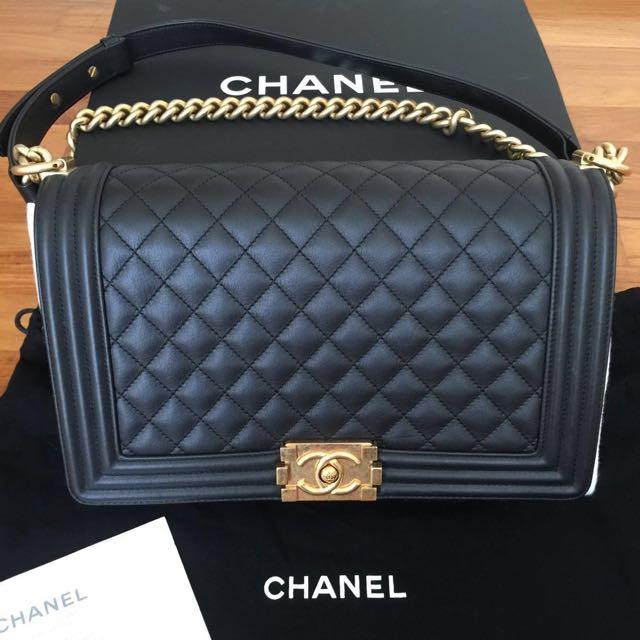 e29b915c01c8 💎SOLD!!!💎 Full Set With Photocopy Receipt - Like New Chanel Le Boy ...