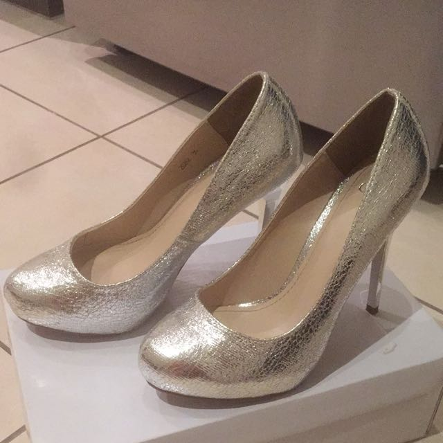 Silver Pumps (heels) Size 36