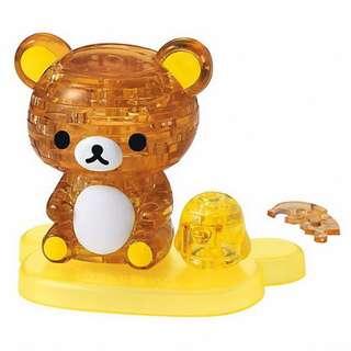 【拼圖LocalKing】〝現貨〞日本拼圖 41片 3D水晶透明拼圖 拉拉熊 懶懶熊 懶熊哥 小黃雞 BV50175