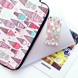 [Instocks] Cute Ice Cream Sundae Cone iPhone 6 6S TPU Soft Transparent Clear Case Cover