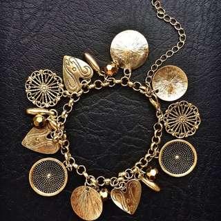 """Clementine"" Vintage inspired charm bracelet"