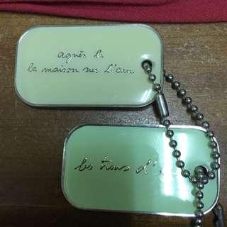 Agnès b 軍牌項鍊
