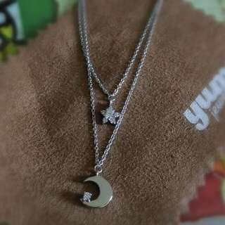 情人節送禮首選❤專櫃品牌 925鋯石 星星月亮項鍊