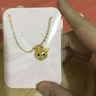金色貓頭項鍊
