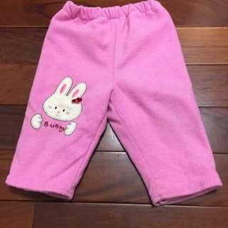 二手兒童厚鋪棉/刷毛褲(2)