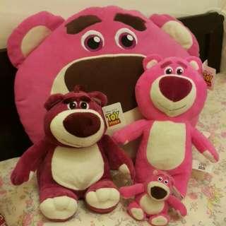 熊抱哥娃娃抱枕吊飾套餐