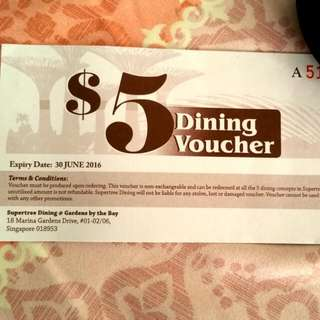 $5 Dining Voucher, Supertree Dining
