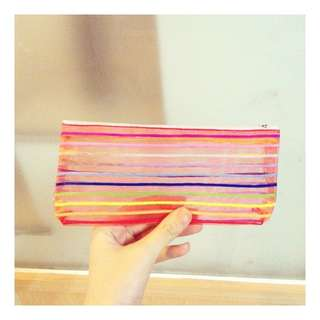 透明 包包 小包 錢包 零錢包 彩虹 娃娃 錢包 收納 方便 可愛 日系 少女 兒童 鉛筆盒 筆袋 筆盒