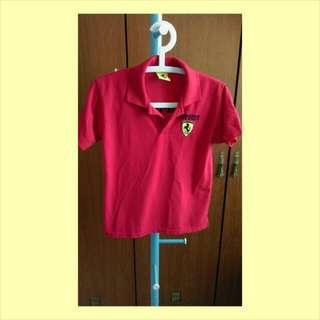 Ferrari紅色POLO衫