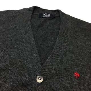 《gooddo•古著》日本POLO深灰色針織外套