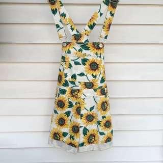 Sunflower Pattern Overalls