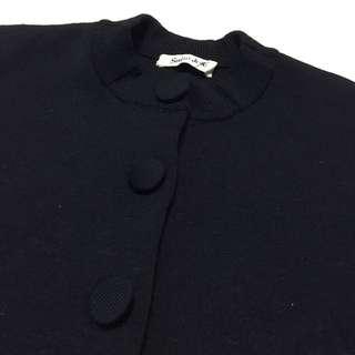 《gooddo•古著》清倉特價💫日本黑色大圓釦針織外套