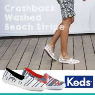Keds Crashback Washed Beach Stripe Slip On