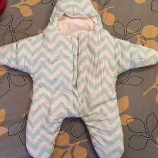 薄荷綠海星寶寶睡袋
