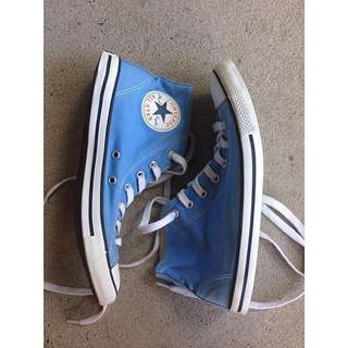 Blue Hightop Converse