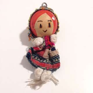 Wooden Girl Doll Key Chain 匙扣