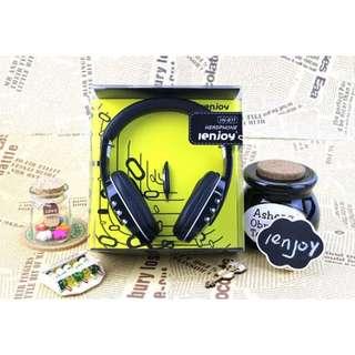 【世明3C】愛音 IN-611音樂mp3耳罩式耳機 手機耳機帶麥克風 電腦頭戴式耳機 重低音 時尚