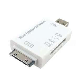 【世明3C】新款兩用二合一讀卡器 ipad1 ipad2 蘋果讀卡器2合1