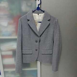 BNWT MUJI Grey Wool Blazer