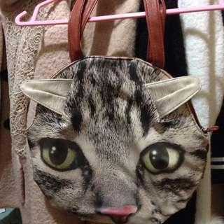 二手🙄貓頭手拿包
