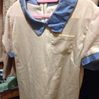 二手🙄韓版雪紡短袖