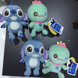 Stitch And Scrump Disney Sega Soft Toy Key Chain