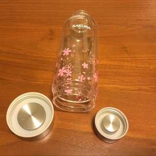 櫻花牌 SAKURA 隨行杯 玻璃杯