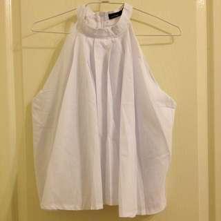 (含運)全新 a'Lady 率性美好削肩打摺短版造型上衣