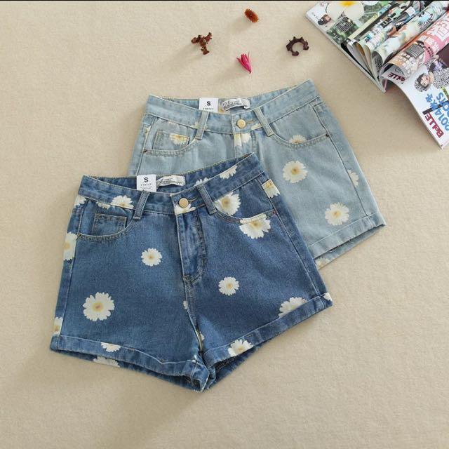 小雛菊高腰短褲(2色)