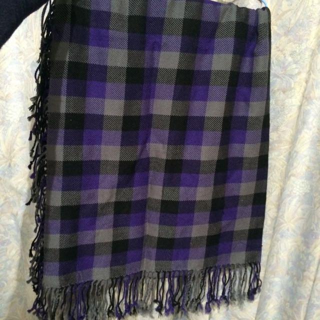 格子方圍巾