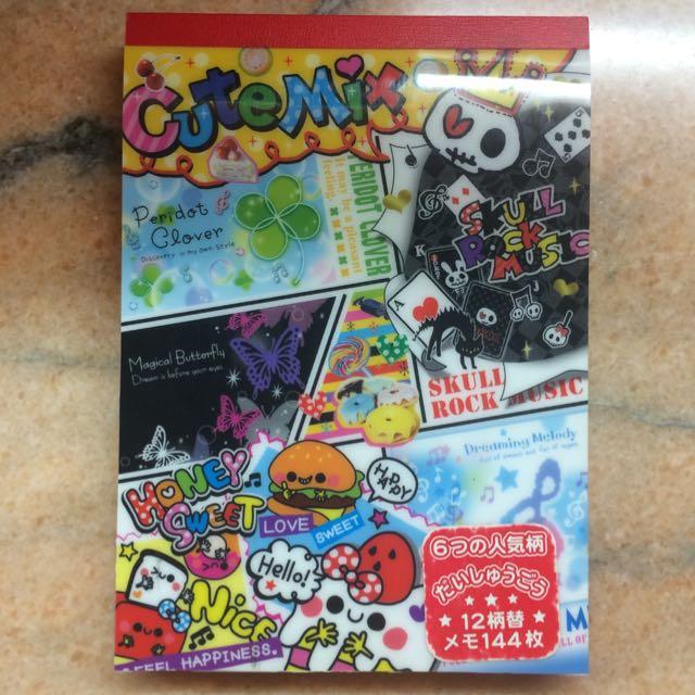 日本製 可愛圖案 便條紙 便條本